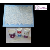 Cake Lace Starter Kit 11 ( Cake Lace Mix or Premix + Spreading Knife + Cake Lace Mats)