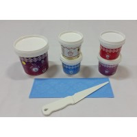 Cake Lace Starter Kit 13 ( Cake Lace Mix or Premix + Spreading Knife + Cake Lace Mats)