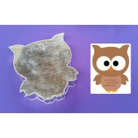 Owl Design Novelty Shape Cake Baking Tins - 1
