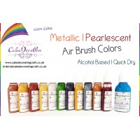 Silver | Metallic Edible Colors | Air Brush Cake Decorating |  Ethanol | 20 ML