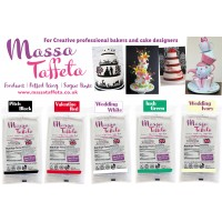 Pitch Black | Massa Taffeta | Fondant | Sugarpaste | Ready Rolled Icing | Cake Craft