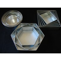 Sale !! Mark down prices !! - Hexagon, Square and Round Cake Tins